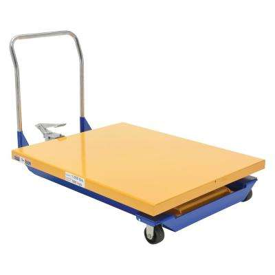 1,000 lbs. Capacity 40 in. x 38 in. Manual Powered Scissor Cart