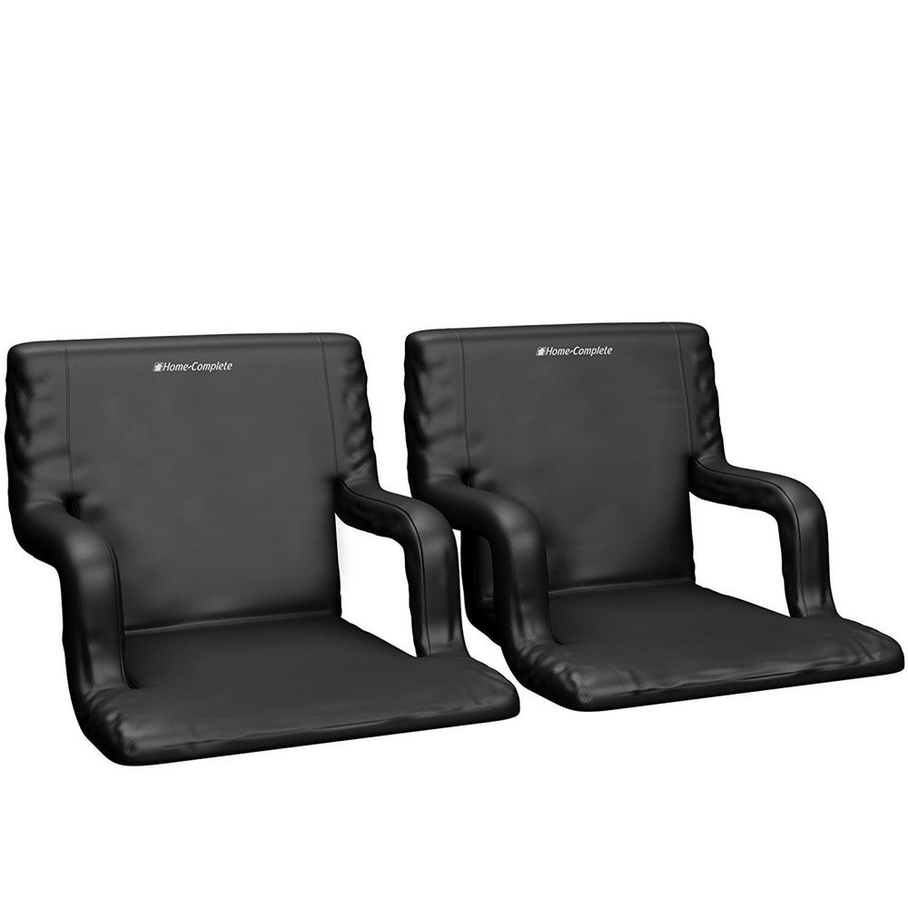 Wide Stadium Seat Chair With Padded Back Support 2 Pack