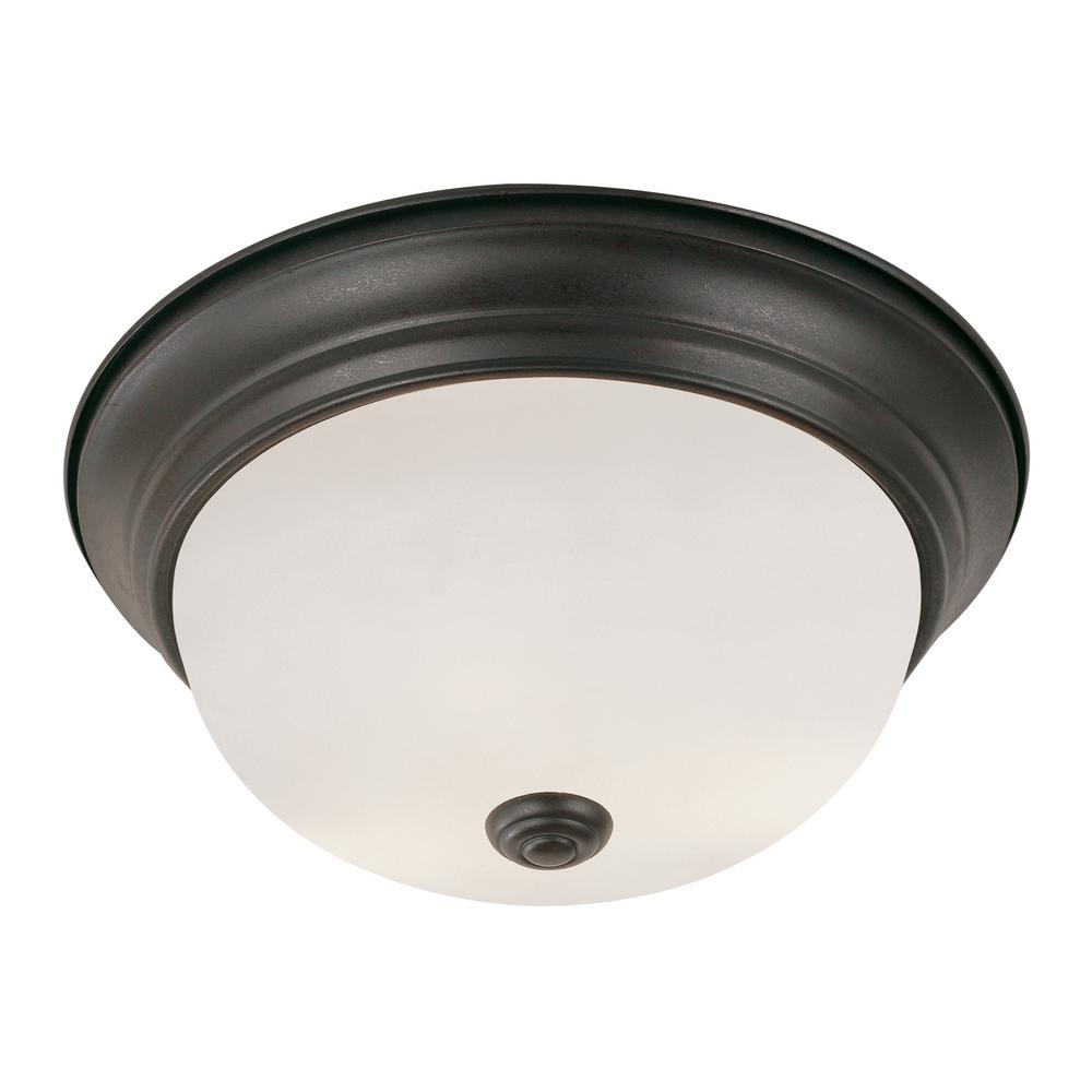 check out 7f3d1 d0108 Bel Air Lighting Bowers 19-Watt Rubbed Oil Bronze Integrated LED Flush Mount
