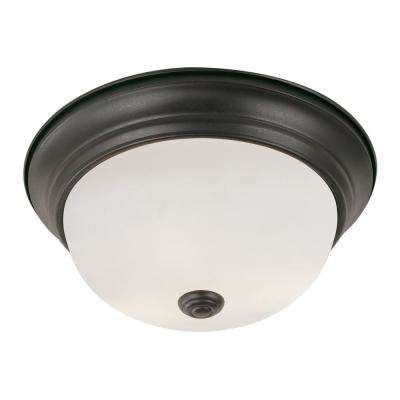 Bowers 19-Watt Rubbed Oil Bronze Integrated LED Flushmount