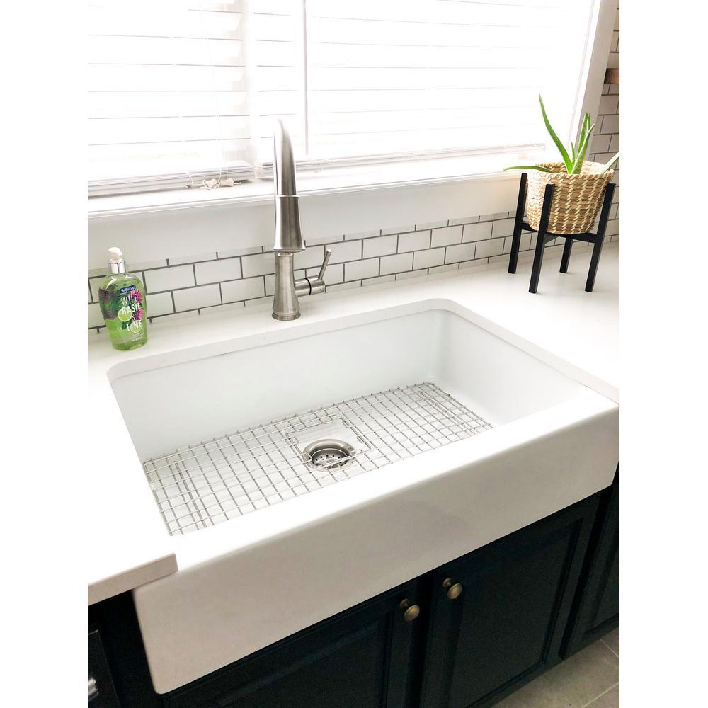 Sinkology Josephine 34 In Fireclay 3, Drop In Farm Sink Home Depot