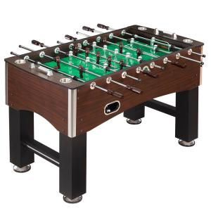 Foosball Table, Family Soccer Game With Wood Grain Finish, Analog