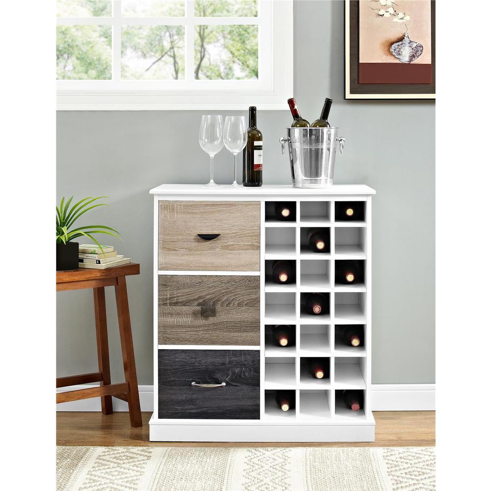 Altra Furniture Mercer White 21 Bottle Wine Cabinet