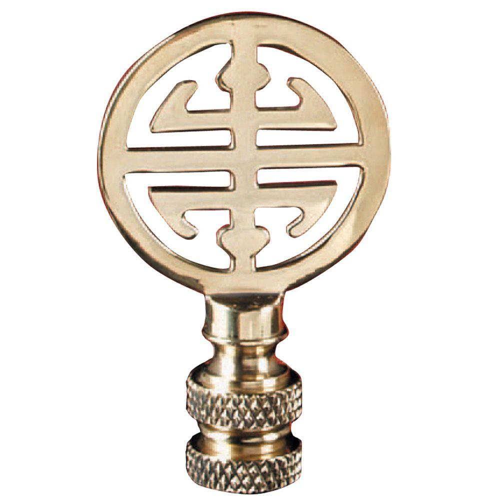 Mario Industries Asian Design Brass Lamp Finial