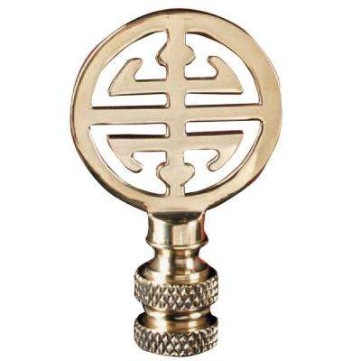 Asian Design Brass Lamp Finial
