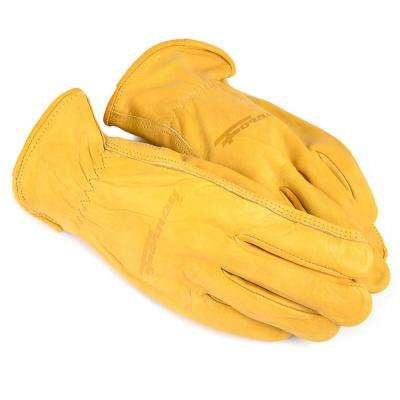 Premium Cowhide Leather Driver's Gloves (Men's L)