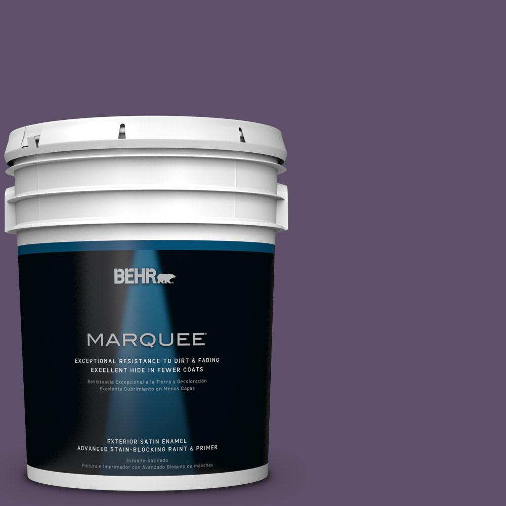 5-gal. #M560-7 Muscat Grape Satin Enamel Exterior Paint