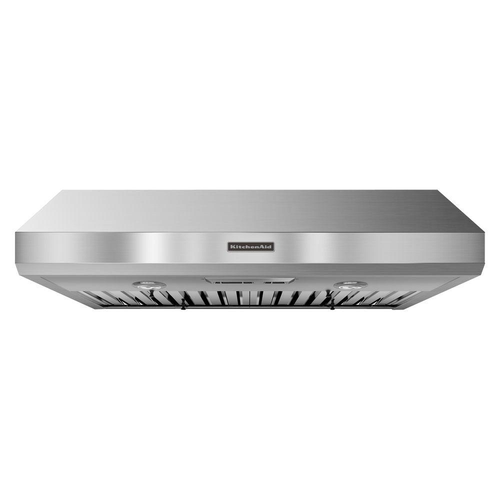 Kitchenaid 36 In Convertible Under Cabinet Range Hood Stainless Steel