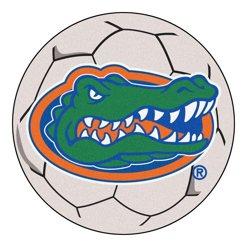 NCAA University of Florida Cream 2 ft. x 2 ft. Round Area Rug