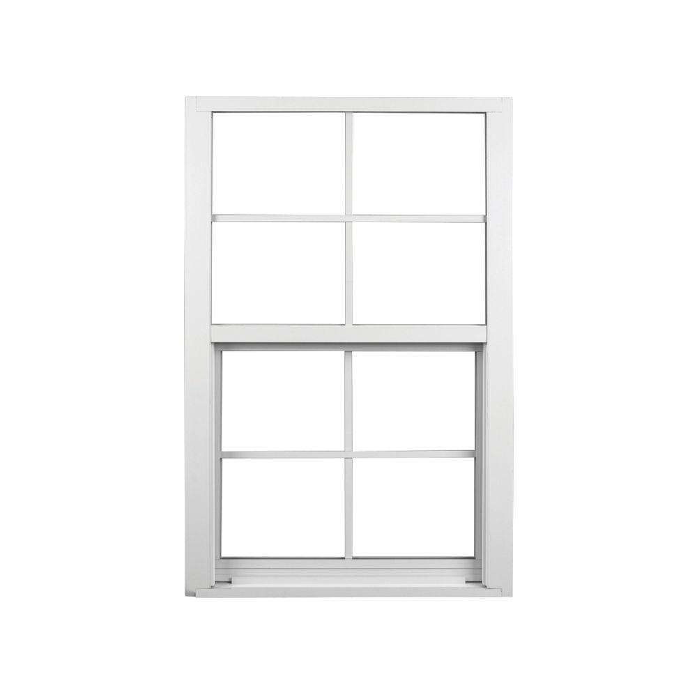 37 in. x 63 in. Single Hung Aluminum Window - White  sc 1 st  The Home Depot & AWP 37 in. x 63 in. Windows and Doors 1750 Series Impact Single Hung ...