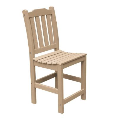 Lehigh Tuscan Taupe Counter-Height Armless Recycled Plastic Outdoor Dining Chair