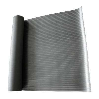 Corrugated Composite Rib Black 1/8 in. x 36 in. x 96 in. Rubber Flooring