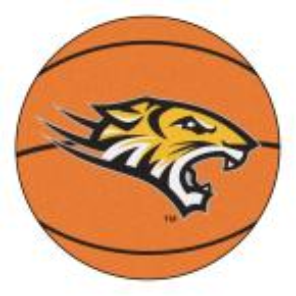 NCAA Towson University Orange 2 ft. x 2 ft. Round Area Rug