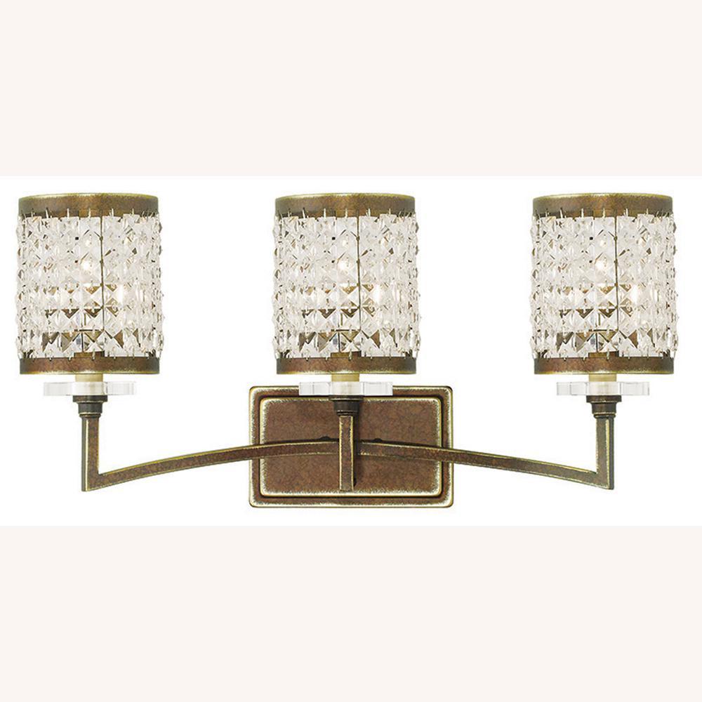 Grammercy 3-Light Palacial Bronze Bath Light