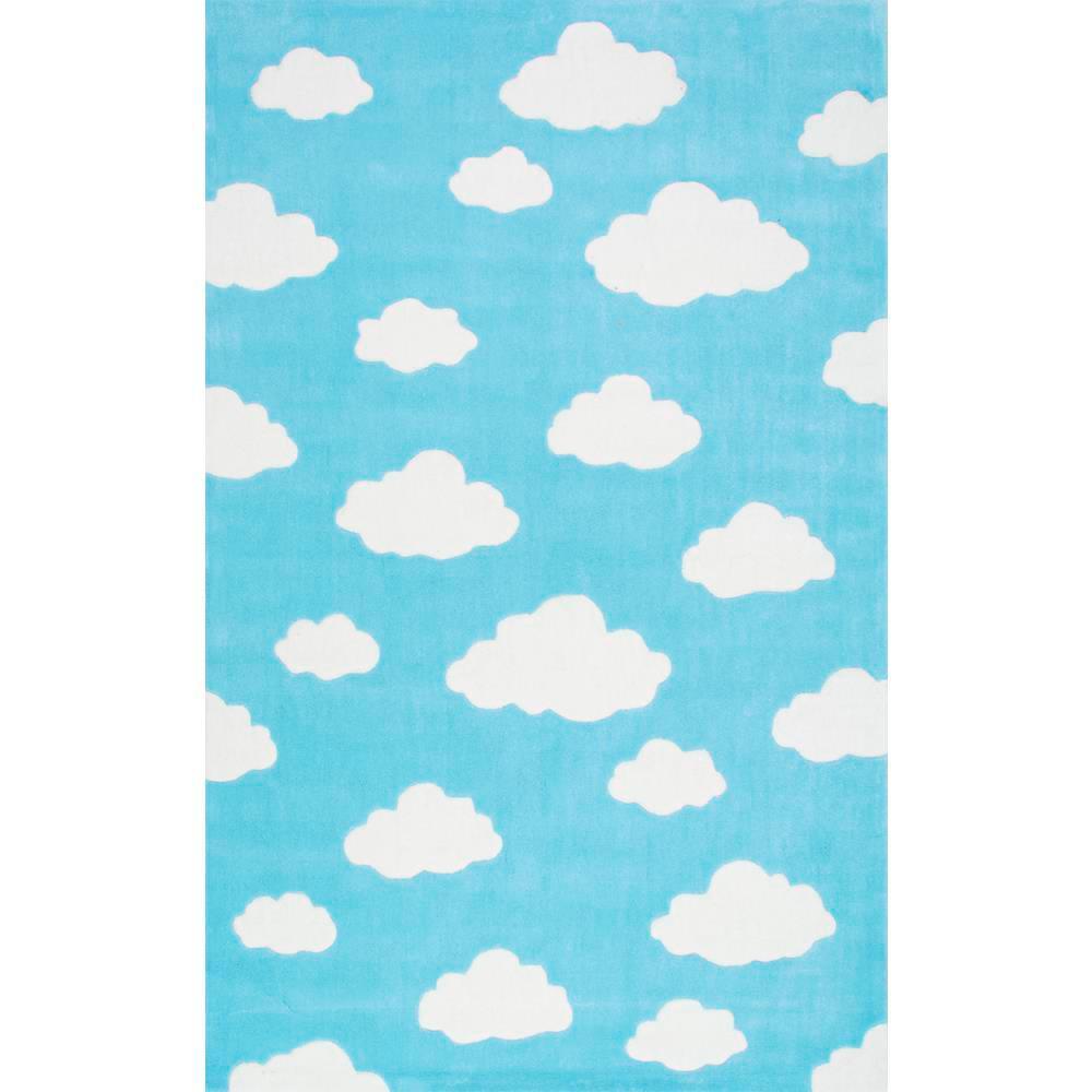 Clouds Playmat Blue 6 ft. x 9 ft.  Area Rug
