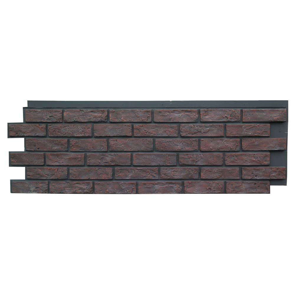 Brick Antique Red 15.25 in. x 43.5 in. Polyurethane Faux Stone