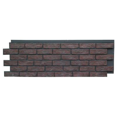 Brick Antique Red 15.25 in. x 43.5 in. Polyurethane Faux Stone Siding Panel (4-Pack)