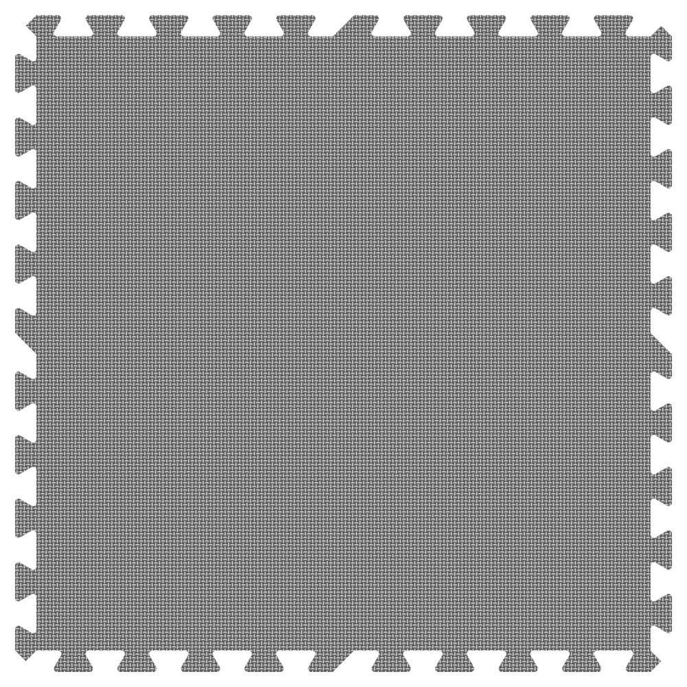 Grey 24 in. x 24 in. Comfortable Mat (100 sq.ft. /