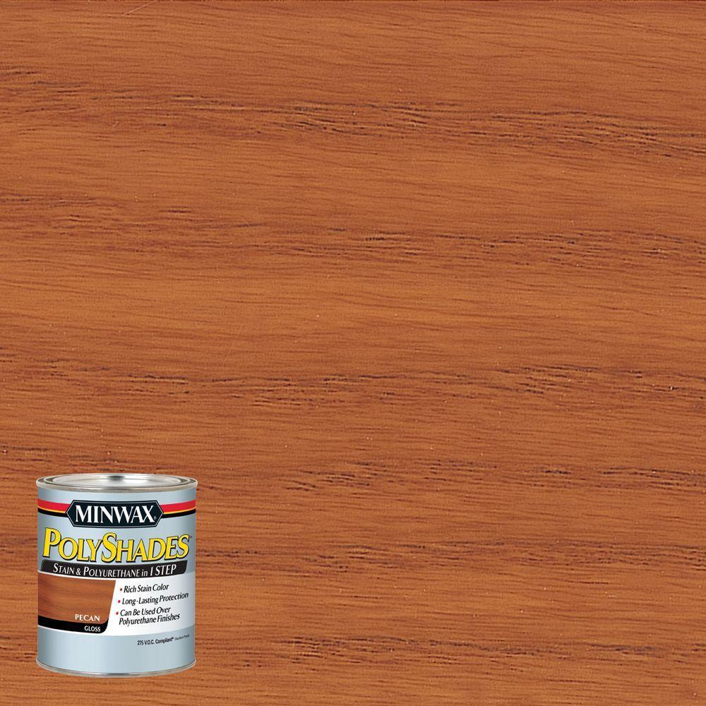 8 oz. PolyShades Pecan Gloss 1-Step Stain and Polyurethane 275 VOC
