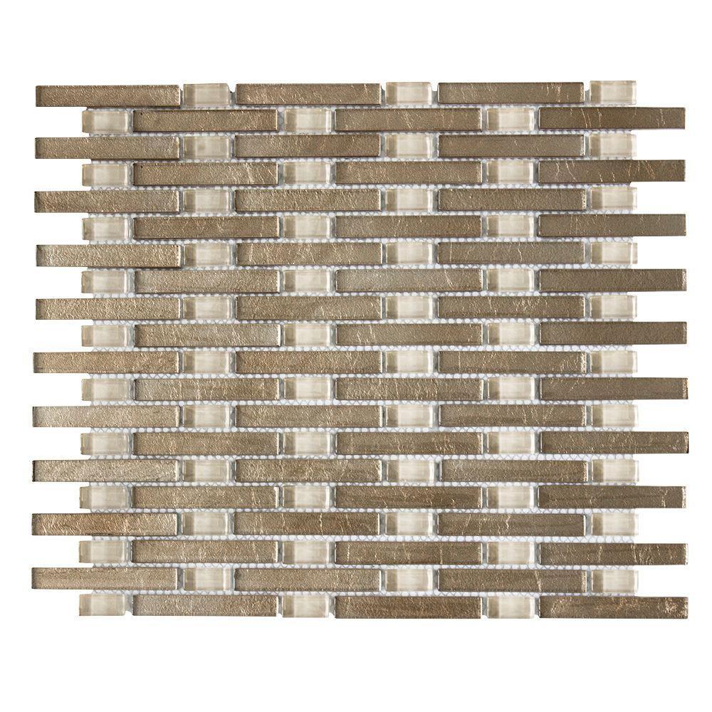 Jeffrey Court Sphynx 11 in. x 13.25 in. x 8 mm Glass Mosaic Wall ...
