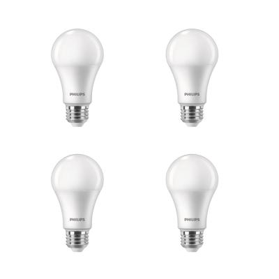 100-Watt Equivalent A19 Dimmable with Warm Glow Dimming Effect Energy Saving LED Light Bulb Soft White (2700K) (4-Pack)