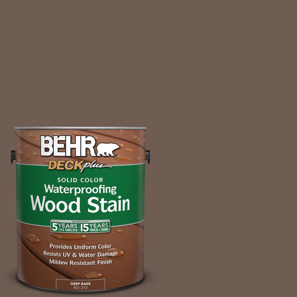 1 gal. #N210-6 Swiss Brown Solid Color Waterproofing Wood Stain