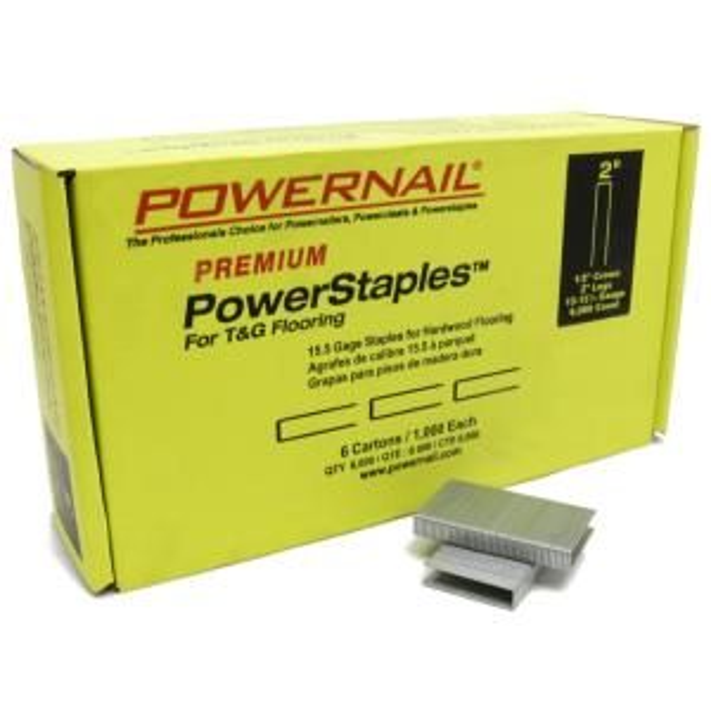 POWERNAIL PowerStaples 2 inch 15-1/2-Gauge Hardwood Flooring Staples 6 Boxes of... by POWERNAIL