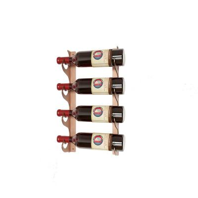 Eagle Edition 4 Bottle Wall Mounted Wine Rack (Single Depth) Brown