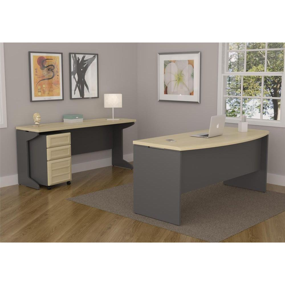 Altra Furniture Pursuit Natural and Gray File Cabinet-9523096 ...