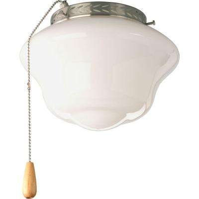 AirPro 1-Light Brushed Nickel Ceiling Fan Light
