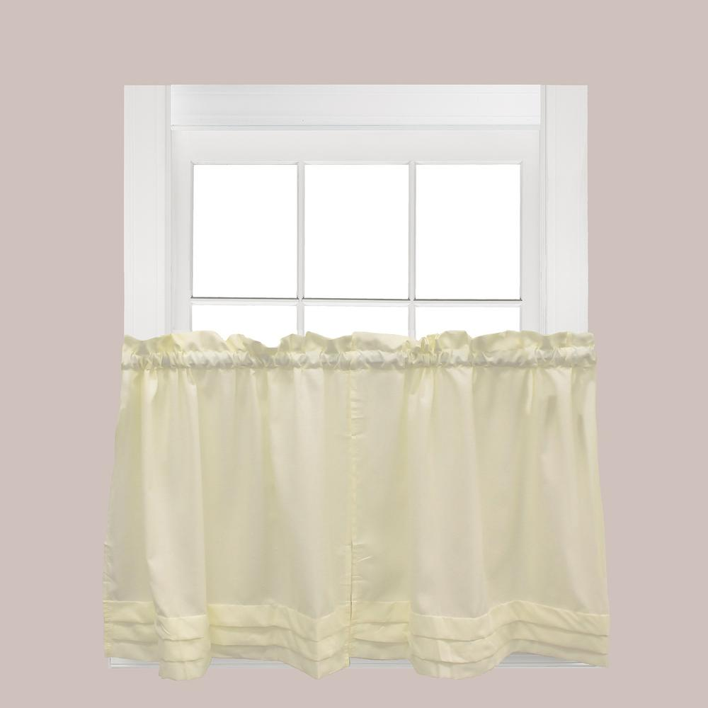 Saturday Knight Holden Natural Polyester Rod Pocket Tier Curtain