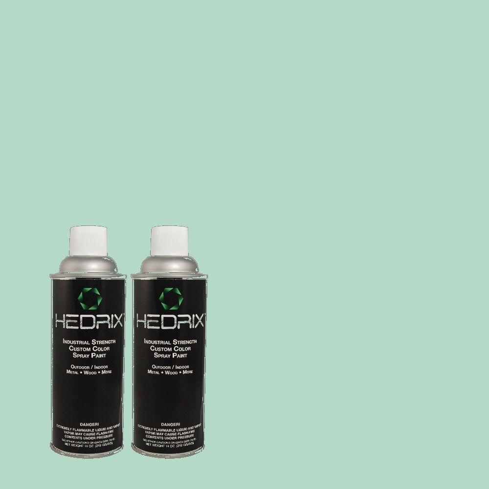 Hedrix 11 oz. Match of 2A55-3 Sea Omen Flat Custom Spray Paint (2-Pack)
