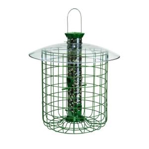 Droll Yankees 1 lb. Green Sunflower Domed Cage Shelter Feeder by Droll Yankees