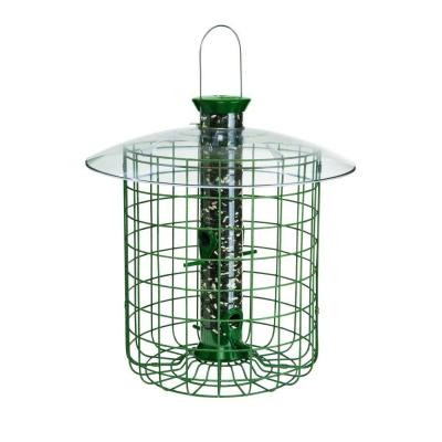 1 lb. Green Sunflower Domed Cage Shelter Feeder