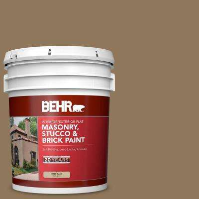 5 gal. #N300-6 Archaeological Site Flat Interior/Exterior Masonry, Stucco and Brick Paint