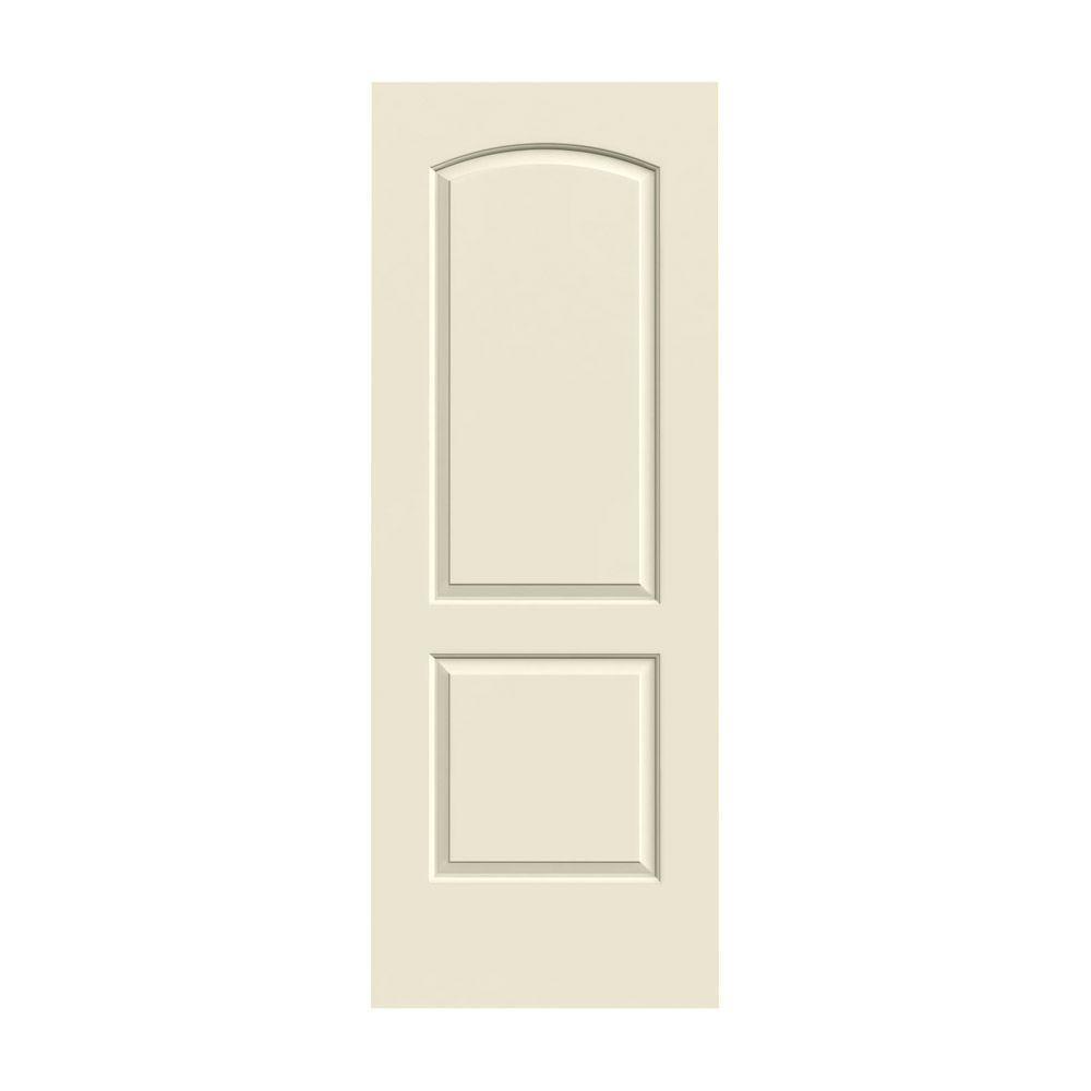 JELD-WEN 32 in. x 80 in. Continental Primed Smooth Solid Core Molded Composite MDF Interior Door Slab