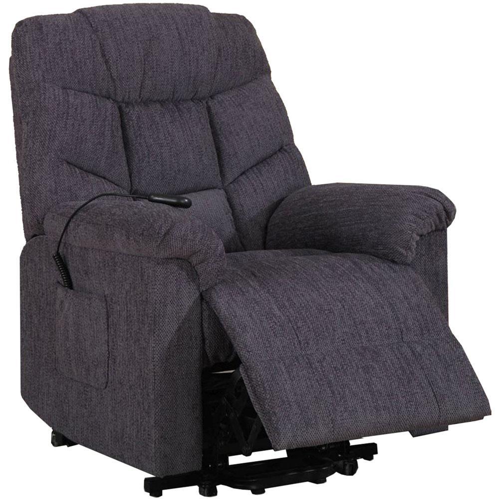 Depot Furniture: Cambridge Chester Twill Blue 2-Way Lift Chair-981605LR-BL