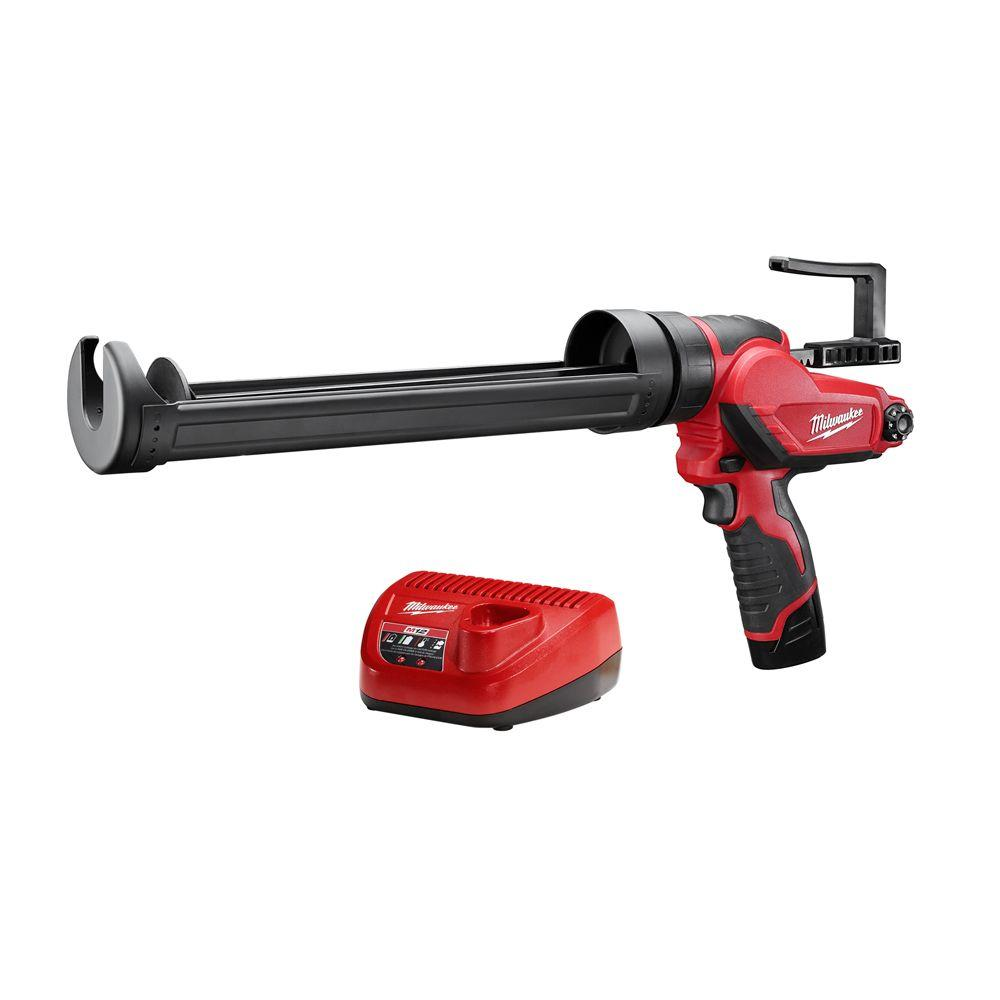 M12 12-Volt Lithium-Ion Cordless Quart Caulk and Adhesive Gun Kit with