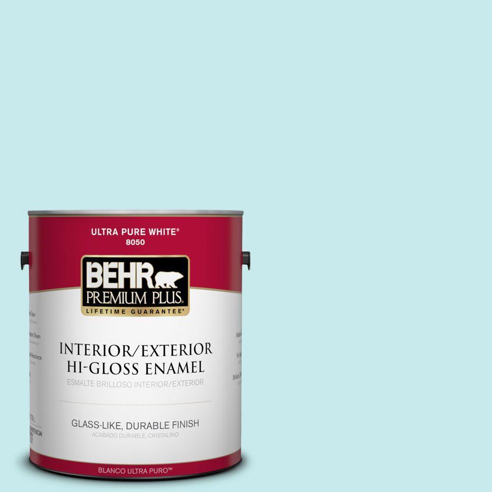1-gal. #P460-1 Morning Sky Hi-Gloss Enamel Interior/Exterior Paint