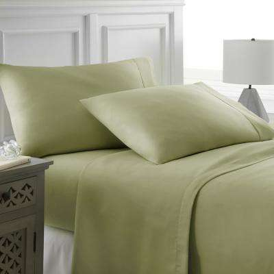 Performance Sage Twin XL 4-Piece Bed Sheet Set