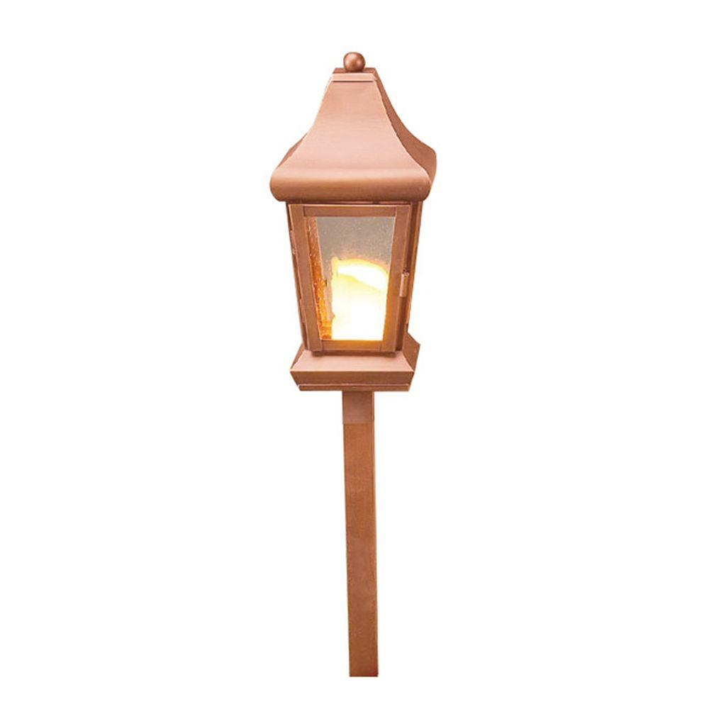 Illumine 1-Light Low Voltage Raw Copper Path Light