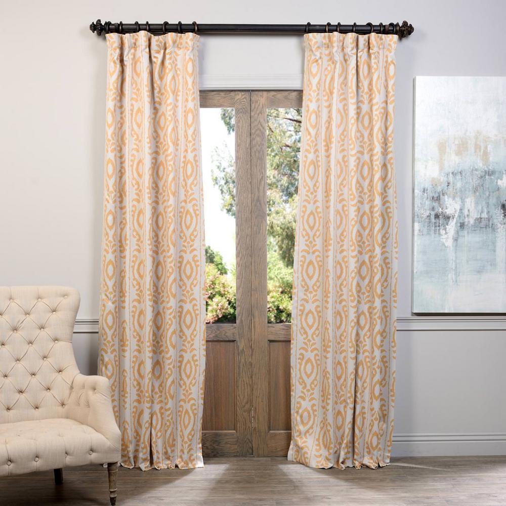 Exclusive Fabrics Furnishings Semi Opaque Pemba Gold Blackout Curtain