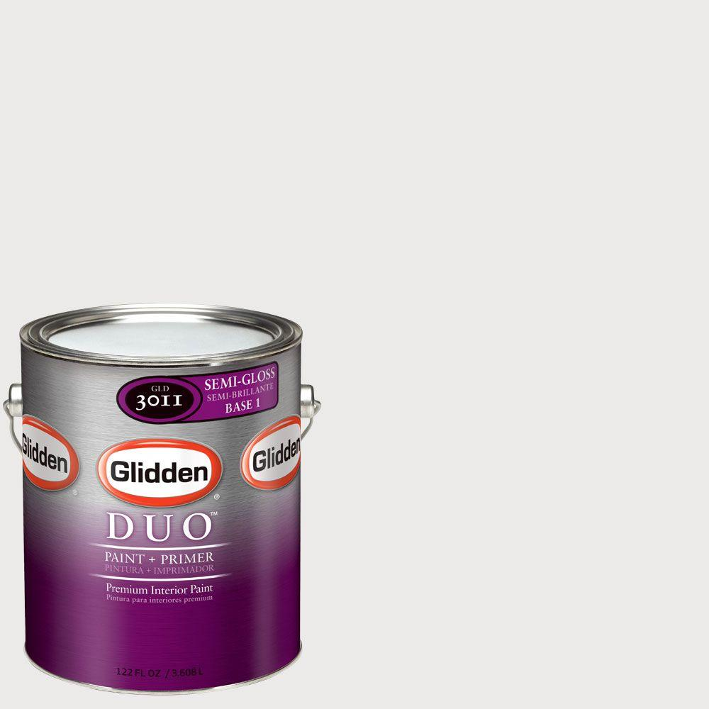 Glidden DUO Martha Stewart Living 1-gal. #MSL253-01S Pure White Semi-Gloss Interior Paint with Primer - DISCONTINUED