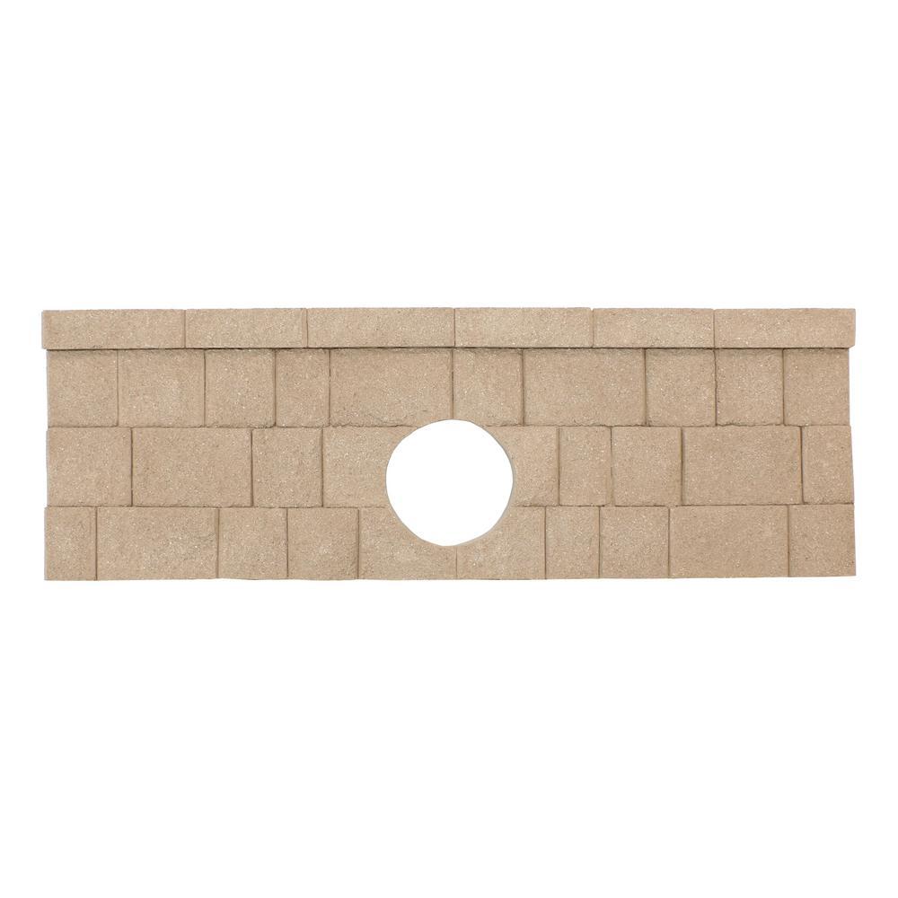 2 ft  H x 3 in  D Brown Fiberglass Landscape Retaining Wall Culvert End Cap  Panel (1-Piece)