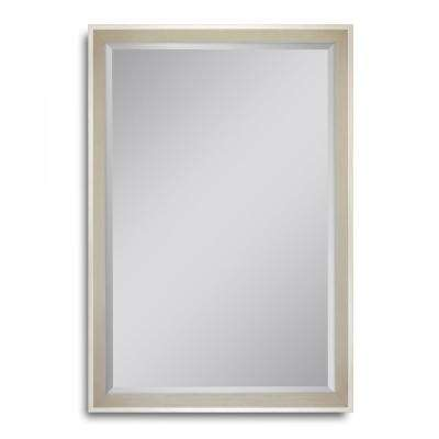 27 in. W x 39 in. H High Tower Champagne Wall Mirror
