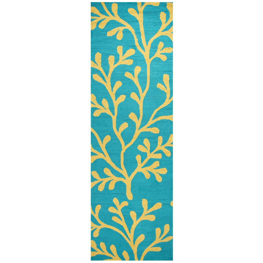 Rizzy Home Azzura Hill Dark Teal Floral 2 Ft. 6 In. X 8 Ft