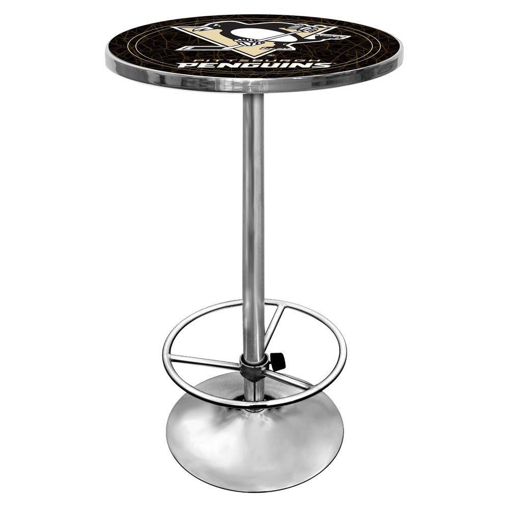 Trademark NHL Pittsburgh Penguins 42 in. H Pub Table
