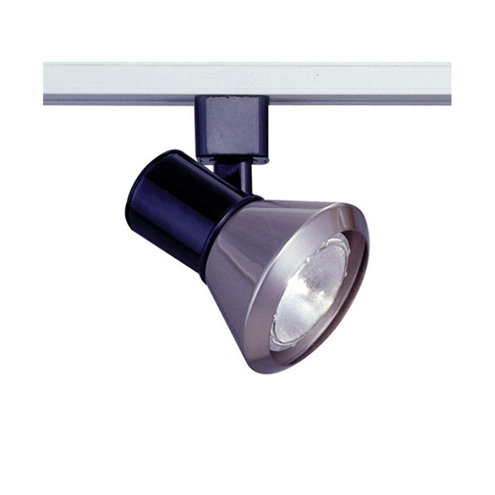PLC Lighting 1-Light Track Light Shade Satin Nickel Finish