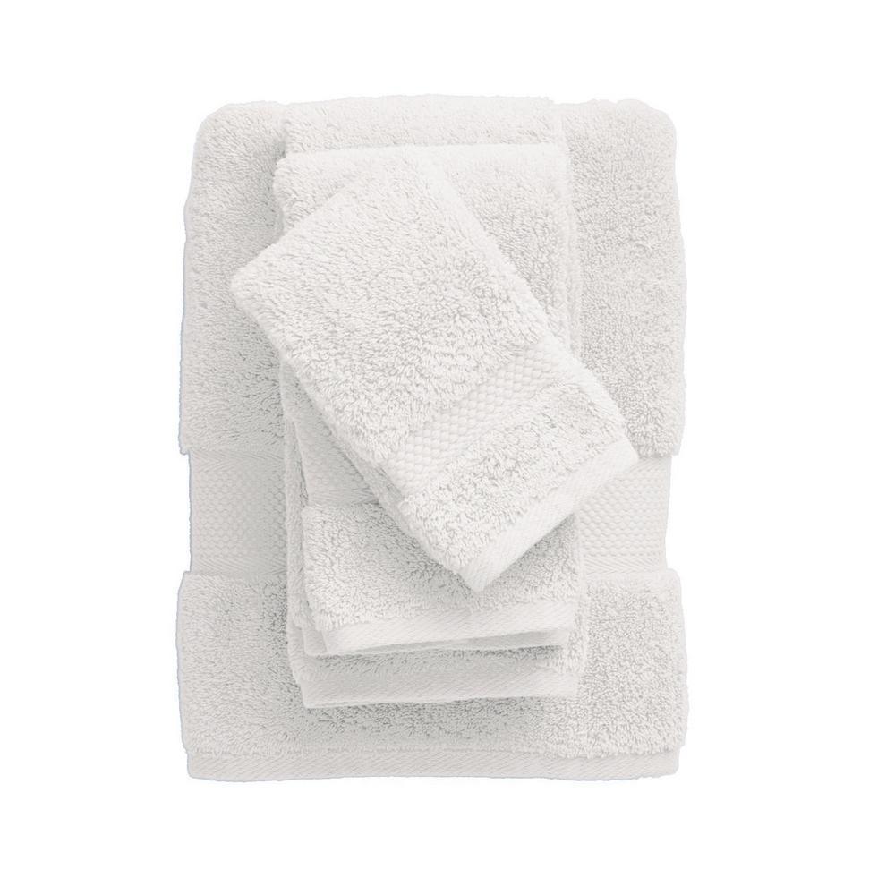 Legends Sterling White Solid Supima Cotton Bath Towel