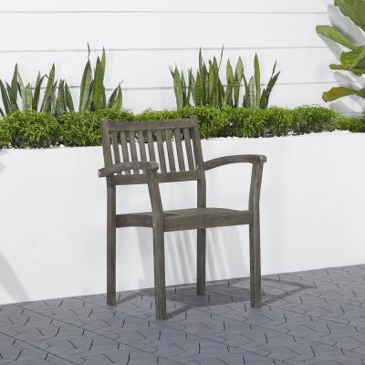 Renaissance Stacking Wood Outdoor Dining Chair (2-Pack)